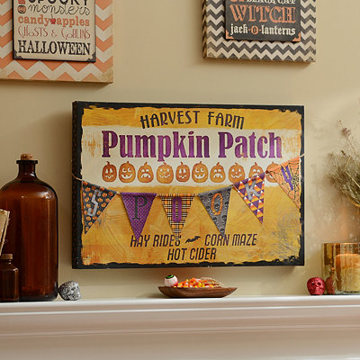 Pumpkin Patch Canvas Art Print