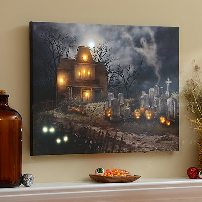 A Haunting LED Canvas Art Print