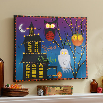 Boo LED Canvas Art Print