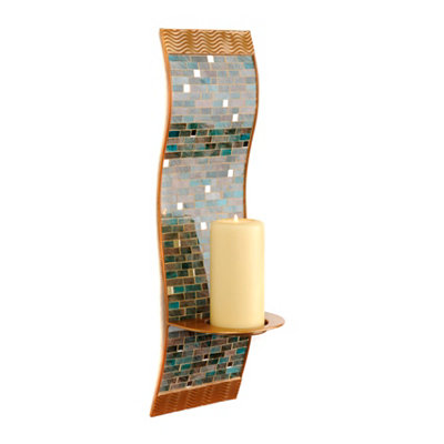Turquoise Mosaic Sconce