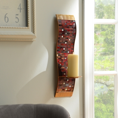 Red Mosaic Wall Sconce