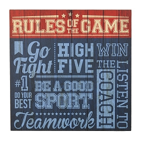 Rules of the Game Plaque