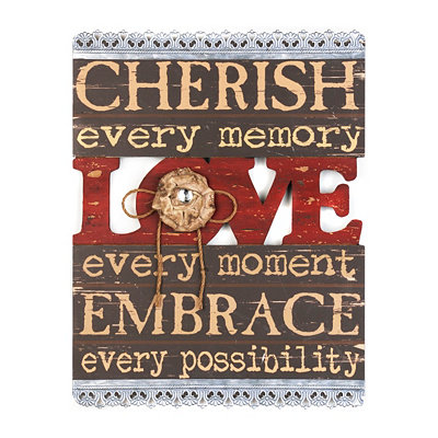Cherish Every Memory Wall Plaque