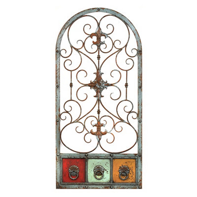 Tri-Color Arch Metal Plaque