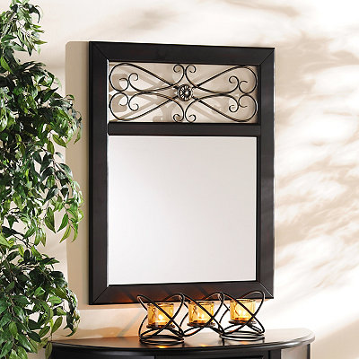 Addison Black Framed Mirror, 28x36