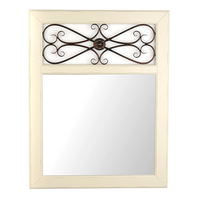 Addison Cream Framed Mirror, 28x36