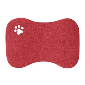 Furry Friends Red Pet Mat