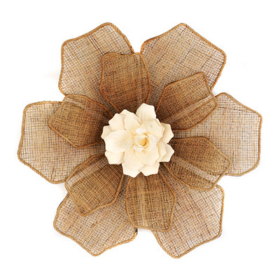 Linen Floral Wall Plaque, 25 in.