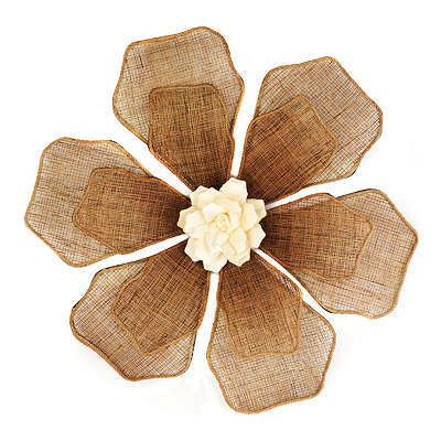 Linen Floral Wall Plaque