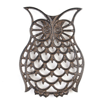 Antique Bronze Owl Trivet