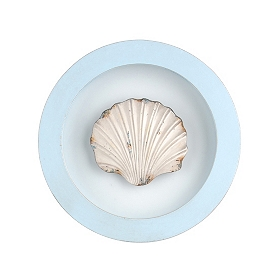 Seashell Round Framed Plaque