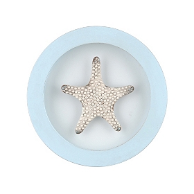 Starfish Round Framed Plaque