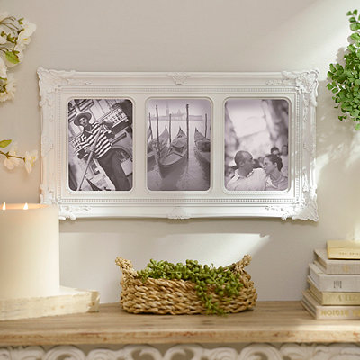 White Victorian Collage Frame