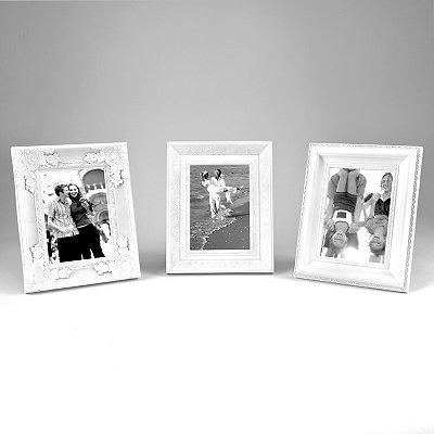 Ornate White Picture Frame, Set of 3