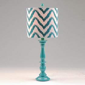 Turquoise Chevron Table Lamp