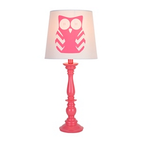 Pink Owl Table Lamp