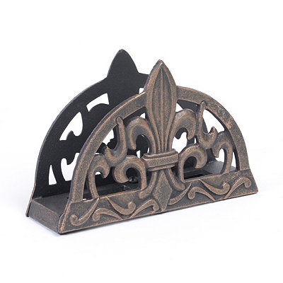 Antique Copper Fleur-de-lis Napkin Holder
