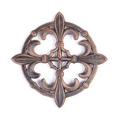 Antique Copper Fleur-de-lis Trivet