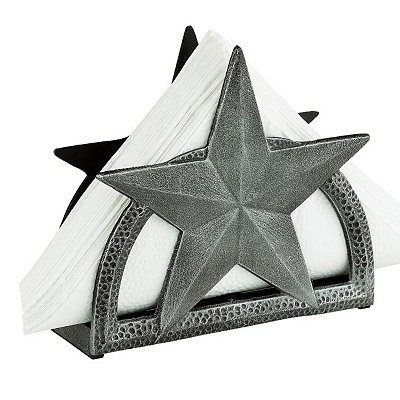 Antique Pewter Star Napkin Holder
