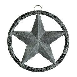 Antique Pewter Star Trivet