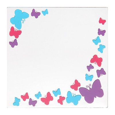 Pink & Purple Butterflies Decorative Mirror