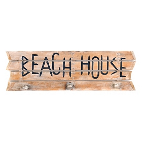 Beach House Driftwood Wooden Sign