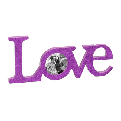 Glitzy Purple Love Picture Frame
