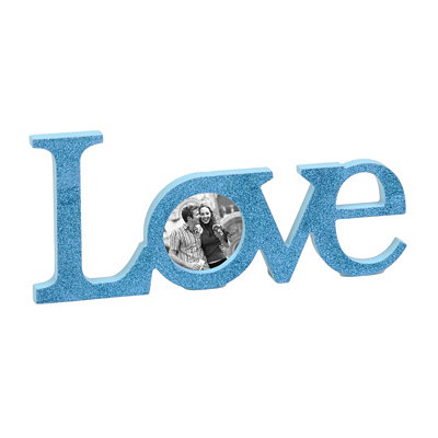 Glitzy Turquoise Love Picture Frame