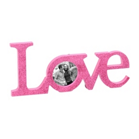 Glitzy Pink Love Picture Frame