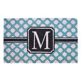 Turquoise Monogram M Doormat