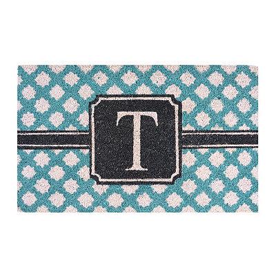Turquoise Monogram T Doormat