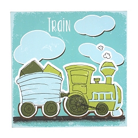 Train Canvas Art Print