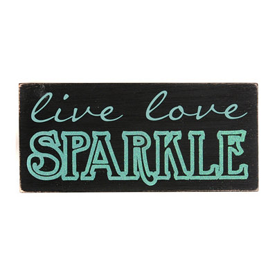 Live Love Sparkle Word Block