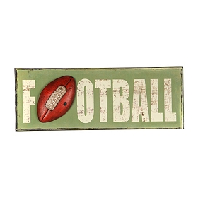 Football Metal Wall Plaque