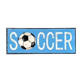 Soccer Metal Wall Plaque