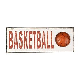 Basketball Metal Wall Plaque