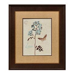 Slate Blue Floral I Framed Art Print