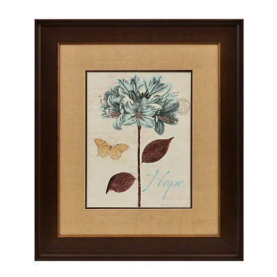 Slate Blue Floral II Framed Art Print
