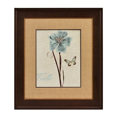 Slate Blue Floral III Framed Art Print