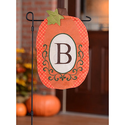 Monogram B Pumpkin Flag