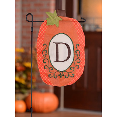 Monogram D Pumpkin Flag