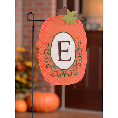 Monogram E Pumpkin Flag
