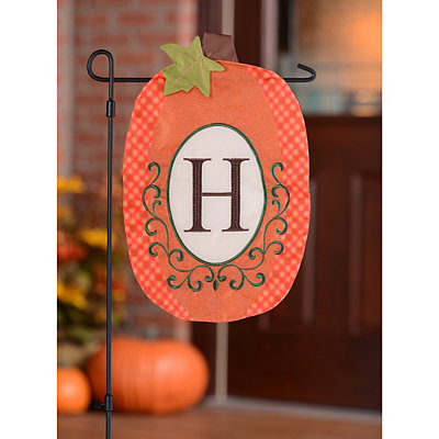 Monogram H Pumpkin Flag