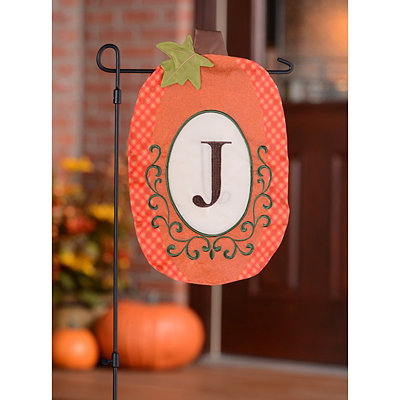 Monogram J Pumpkin Flag