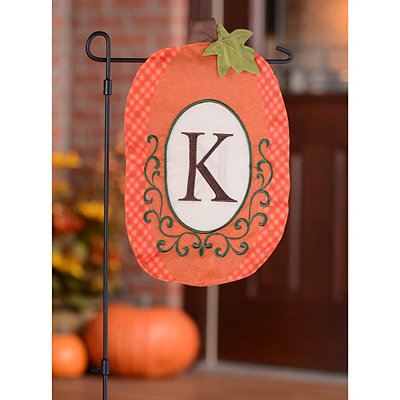 Monogram K Pumpkin Flag
