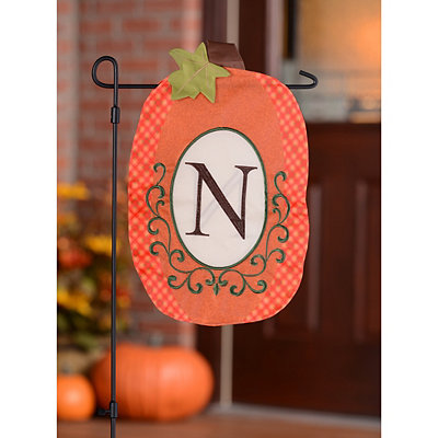 Monogram N Pumpkin Flag