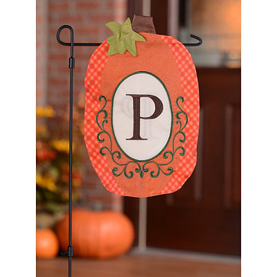 Monogram P Pumpkin Flag