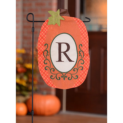 Monogram R Pumpkin Flag
