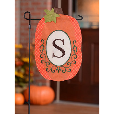Monogram S Pumpkin Flag