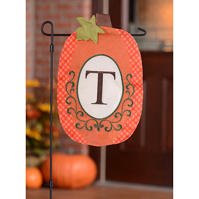 Monogram T Pumpkin Flag